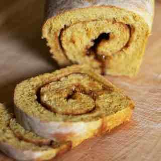 Pumpkin Cinnamon Swirl Bread