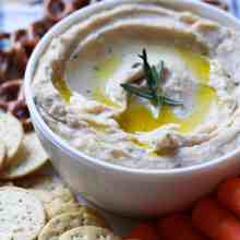 White Bean Lemon Rosemary Dip