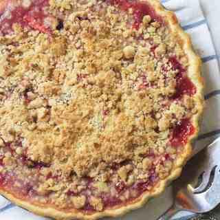 Berry Rhubarb Crumb Pie