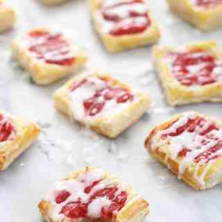 Strawberry Rhubarb Almond Danishes