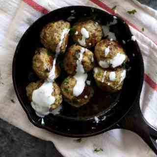 Greek Turkey Lentil Meatballs
