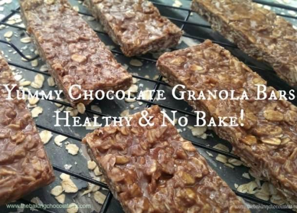 Yummy Chocolate Granola Bars - Healthy & No Bake too!