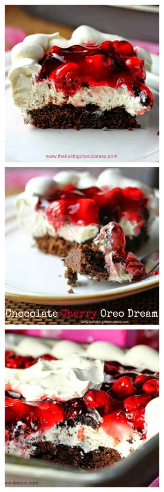 Chocolate Cherry Oreo Dream Dessert