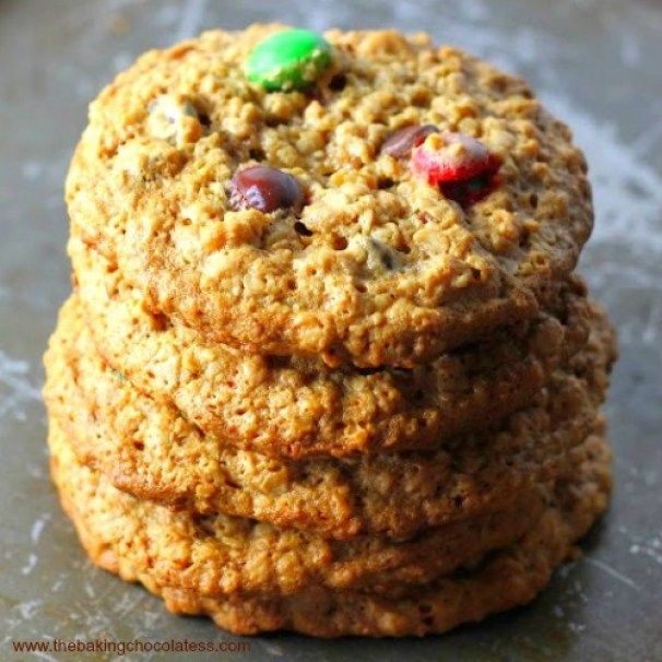 flourless jumbo peanut butter monster cookies