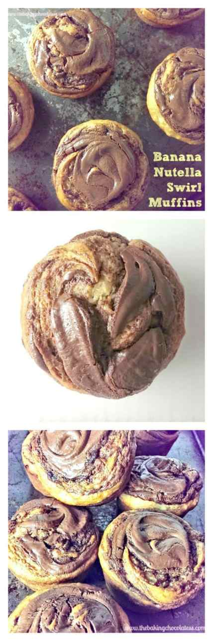 Banana Nutella Swirl Muffins