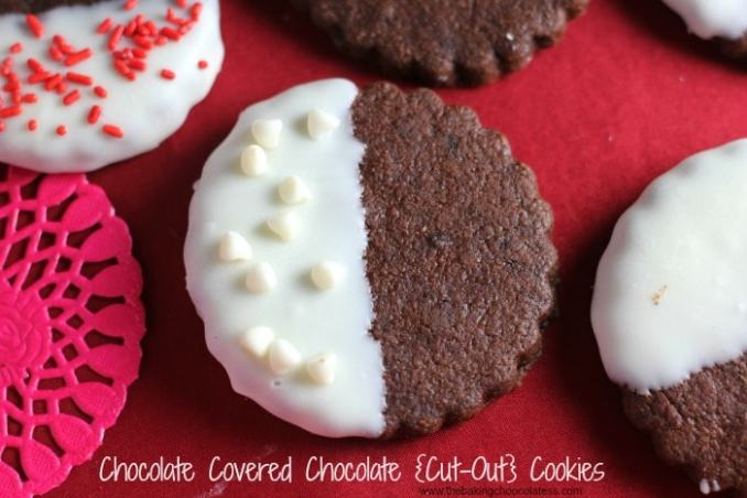 Chocolate Covered Chocolate {Cut-Out} Cookies