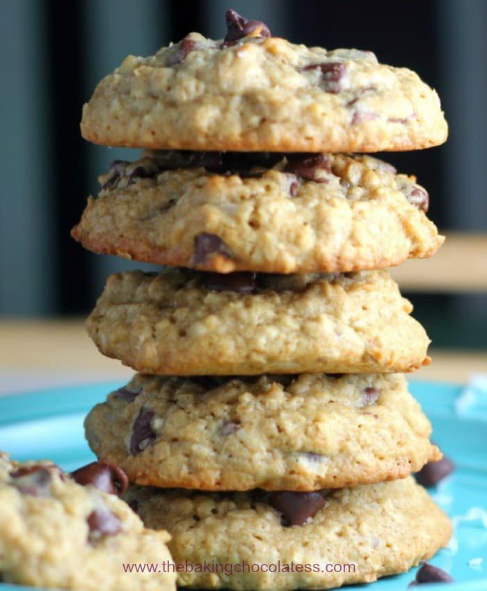 Best Coconut Chocolate Chip Oatmeal Cookies