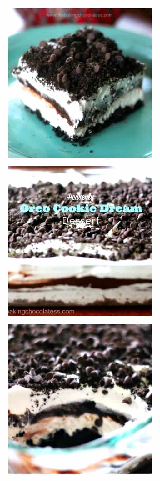 Heavenly Oreo Cookie Dream Dessert #oreo #pudding #layereddessert #cookie