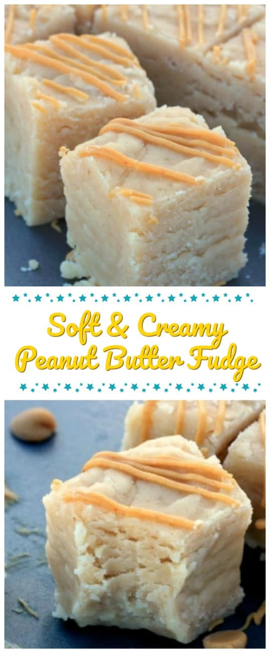 Soft & Creamy Peanut Butter Fudge - This Soft Peanut Butter Fudge is a nice rich, super creamy, delicious fudge! So, so awesomely good! #peanutbutter #fudge #holidays