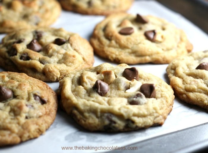 Thick and Chewy Milk Chocolate Chip and Salted Cashew Cookies