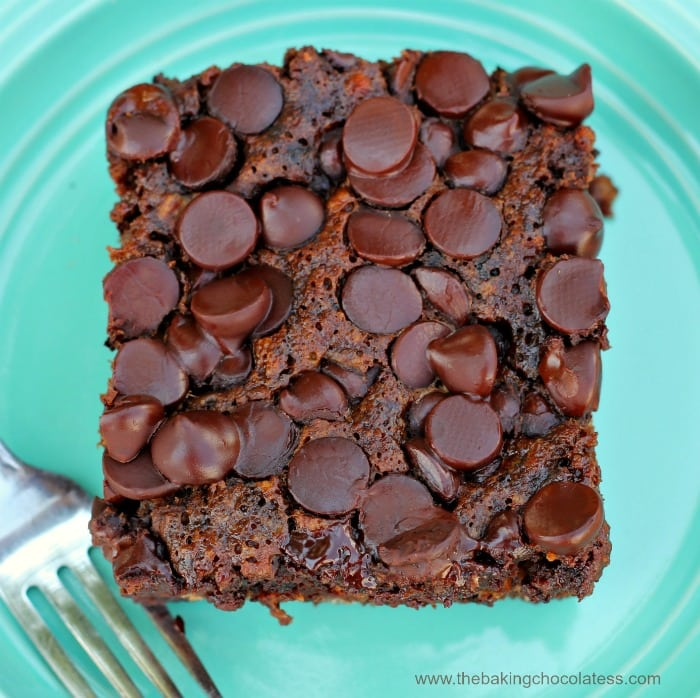 Double Dark Chocolate Banana Snack Cake (We can't stop eating it!)
