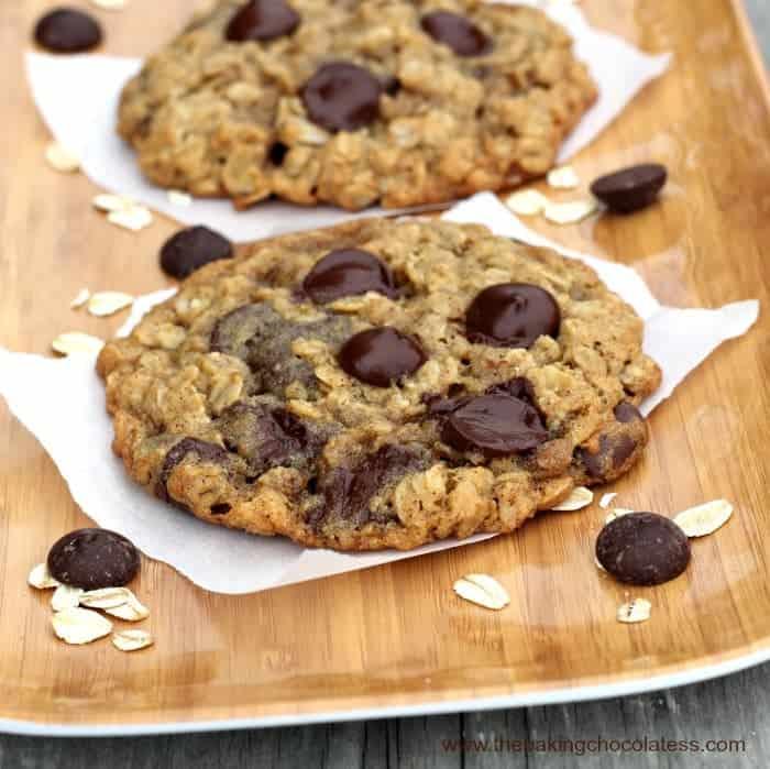 BFF Dark Chocolate Chip Oatmeal Cookies