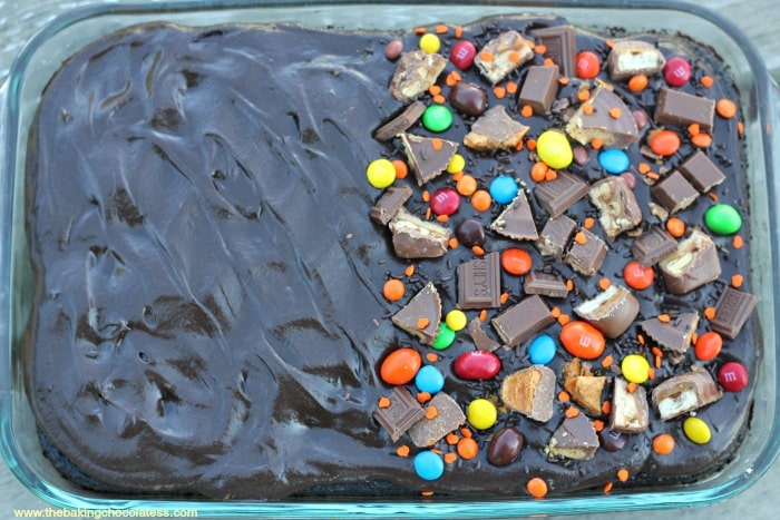Halloween Black Magic Candy Cake! It's Insane!