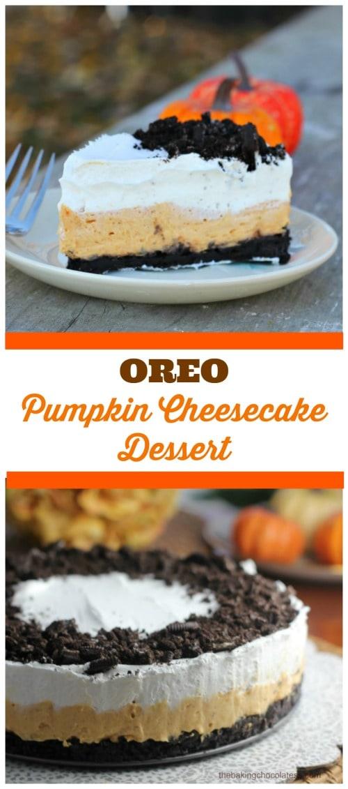 Oreo Pumpkin Cheesecake Dessert