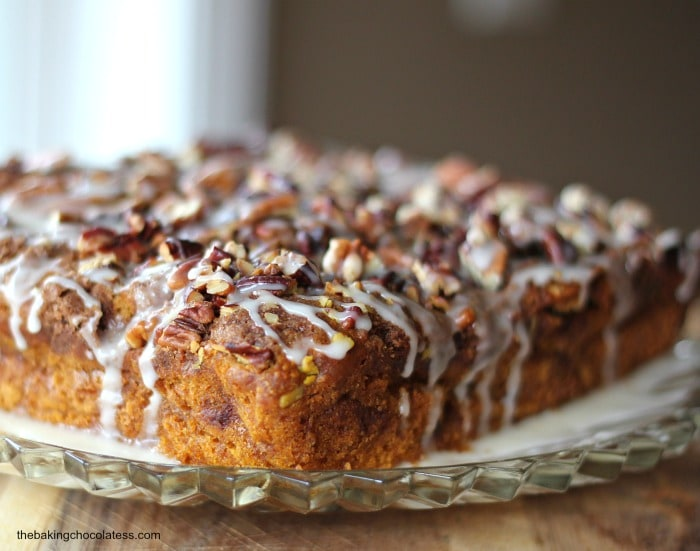Best Pumpkin Pecan Coffee Cake