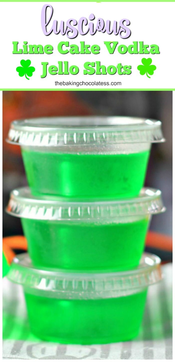 Luscious Lime Cake Vodka Jello Shots will get any party started with Pinnacle Cake Vodka infused in Luscious Lime Jello Shots. Every party has cake!