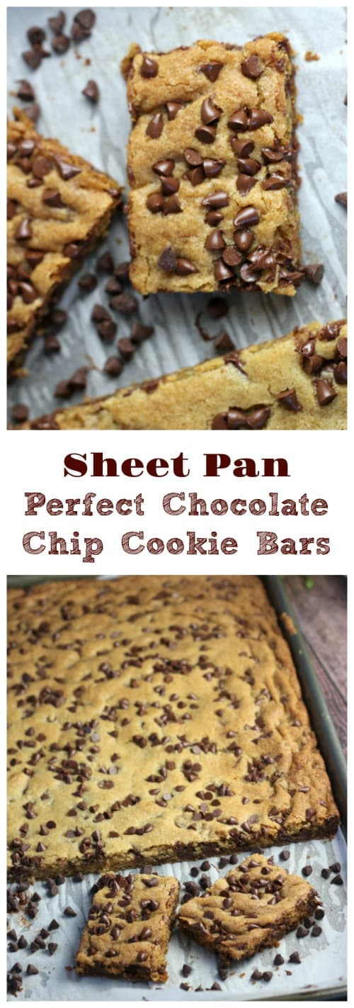 Sheet Pan Perfect Chocolate Chip Cookie Bars