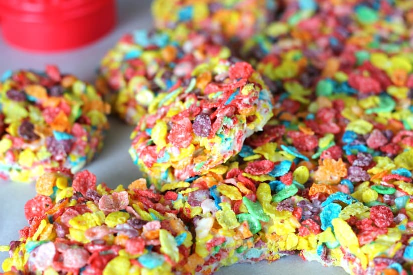 Fruity Pebbles Ice Cream Sandwiches