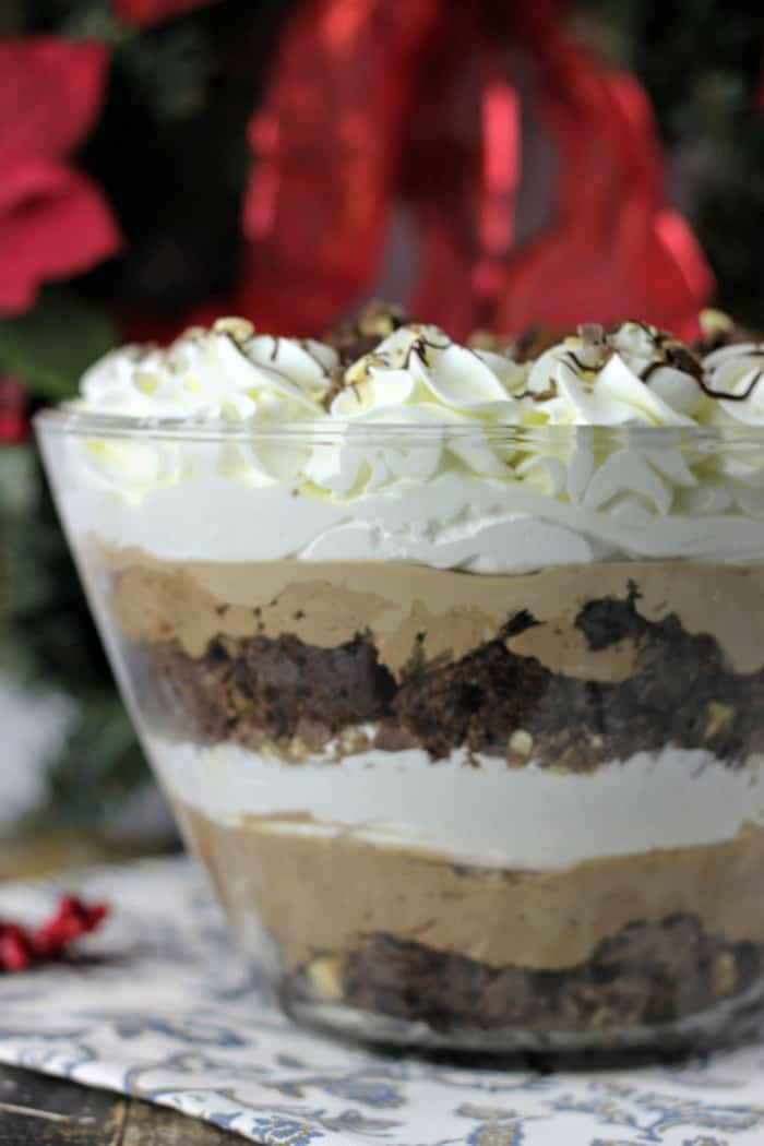 Milk Chocolate Hazelnut Brownie Mousse Trifle