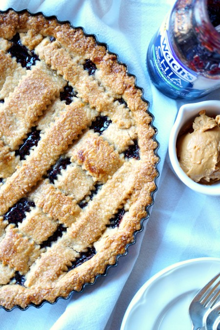 peanut butter & jelly crostata   The Baking Fairy