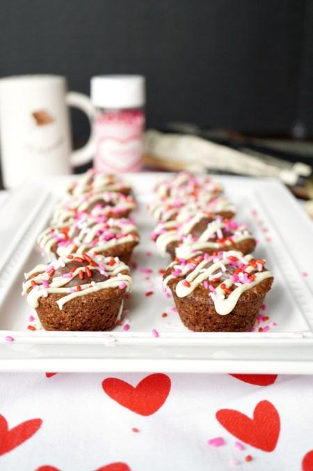 dark chocolate truffle brownie bites   The Baking Fairy