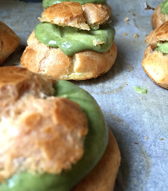 Matcha Cream Puffs 2