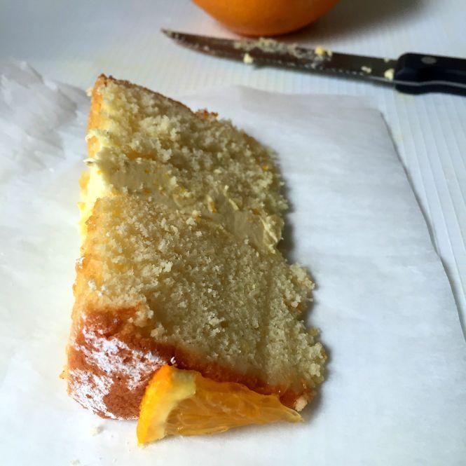 Sponge Cake with Orange Buttercream