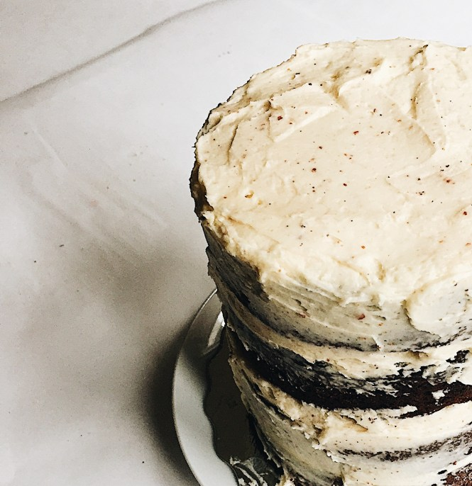 Chocolate Stout Cake Brown Butter Frosting