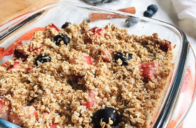 Berry Almond Baked Oatmeal