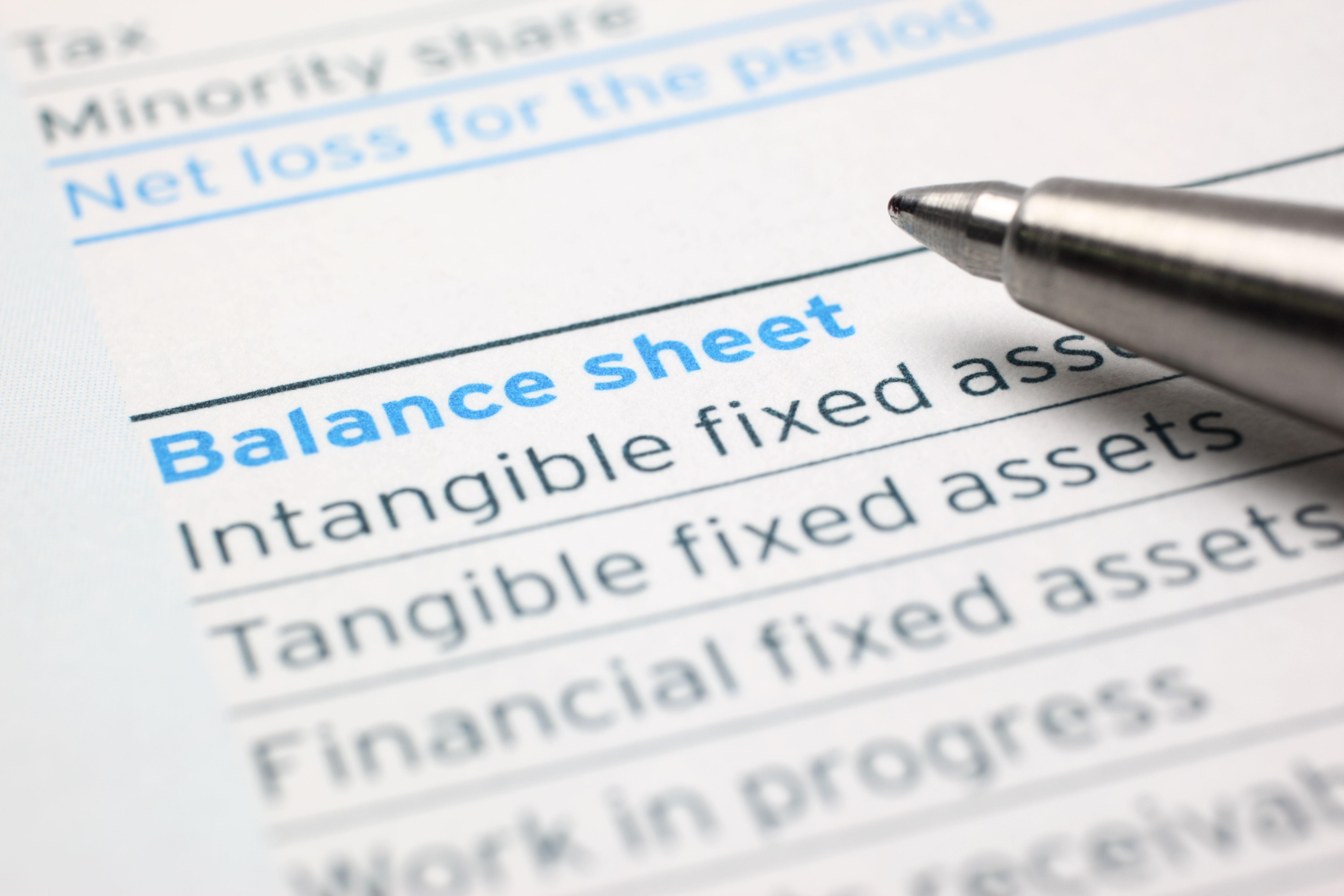 Yzing A Balance Sheet