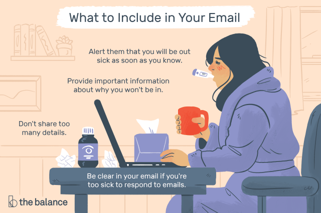 Sick Day Email Message Examples and Writing Tips