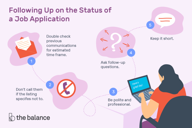 How to Follow Up on the Status of a Job Application