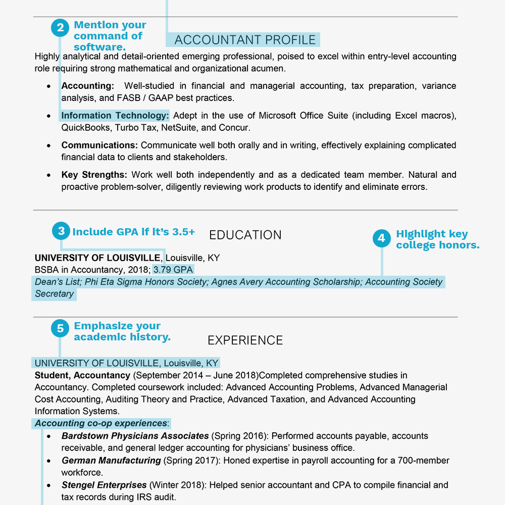 College Student Grad Resume Examples And Writing Tips