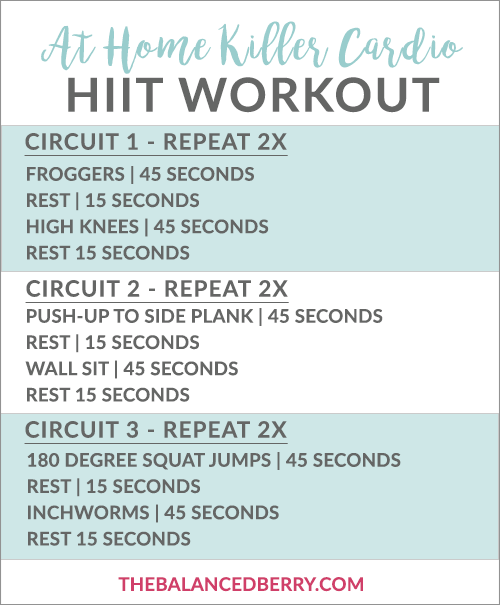 Killer At-Home Cardio Workout - a 25 minute heart-pumping workout with HIIT intervals. All bodyweight - no equipment needed!