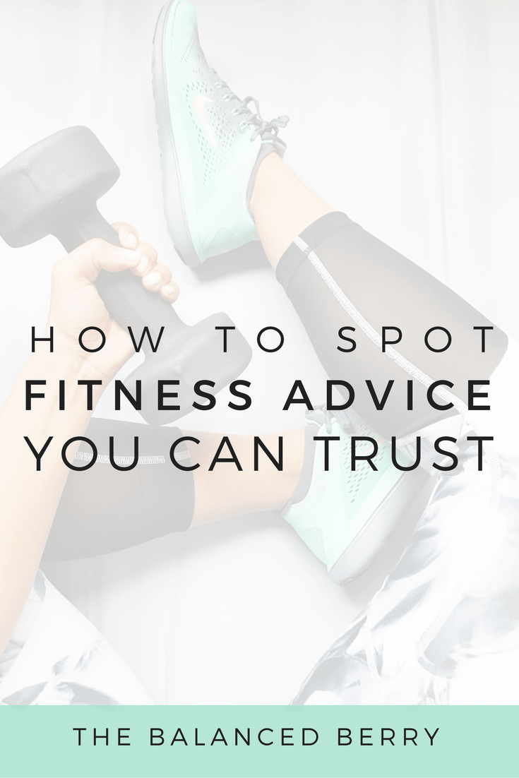 Three tips to help you spot online fitness advice you can trust, that will truly help you reach your goals.