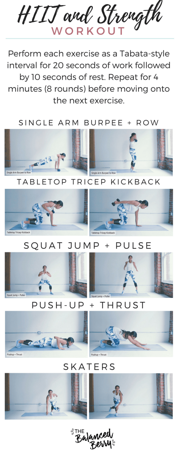 This HIIT and Strength Routine tightens and strengthens your entire body without any special equipment - just a dumbbell!