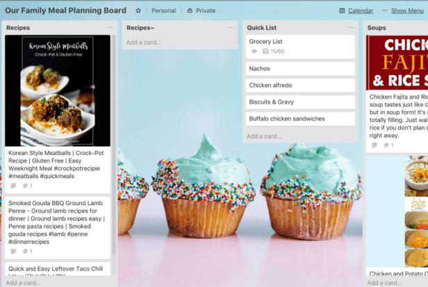 trello meal planning tackle paper clutter-min