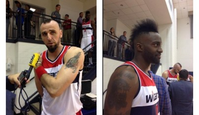 """He's sexual black chocolate, I'm sexual white chocolate"", είπε με σοβαρό ύφος ο Gortat για το mohawk που μοιράζεται με τον συμπαίχτη Martell Webster."