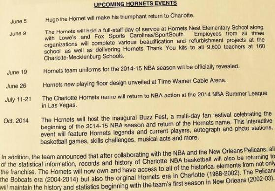 Upcoming Hornets Events