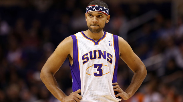 PHOENIX, AZ - NOVEMBER 12: Jared Dudley #3 of the Phoenix Suns in action during the NBA game against the Denver Nuggets at US Airways Center on November 12, 2012 in Phoenix, Arizona. The Suns defeated the Nuggets 110-100. NOTE TO USER: User expressly acknowledges and agrees that, by downloading and or using this photograph, User is consenting to the terms and conditions of the Getty Images License Agreement. (Photo by Christian Petersen/Getty Images)