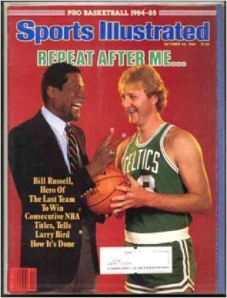 Bill Russell & Larry Bird SI Cover