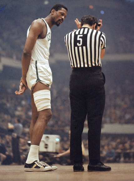 Bill Russell complains to the ref