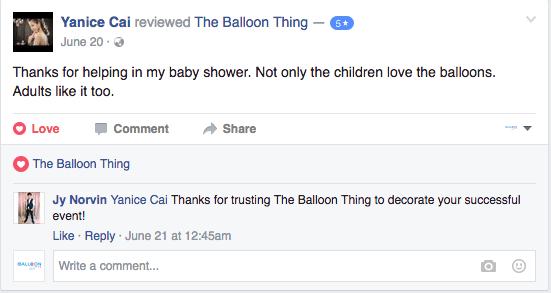 the balloon thing testimonial 3