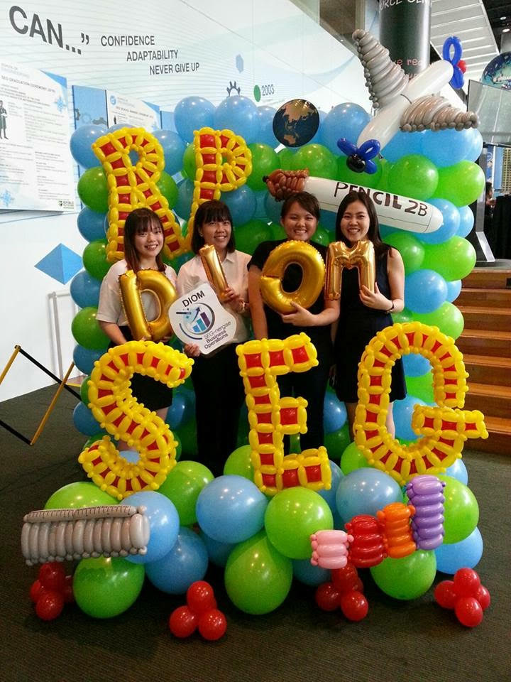 republic polytechnic open house 2017 balloon decoration5