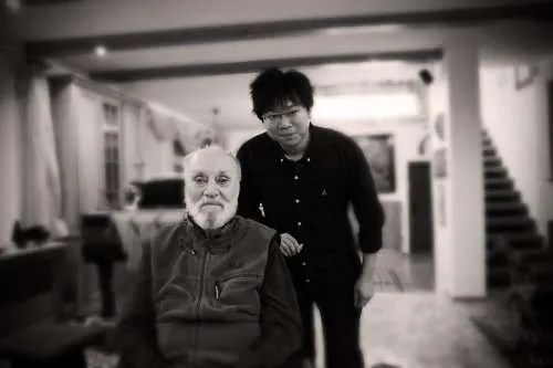 With Kurt Masur in his Leipzig home, September 2013