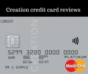 Creation credit card reviews