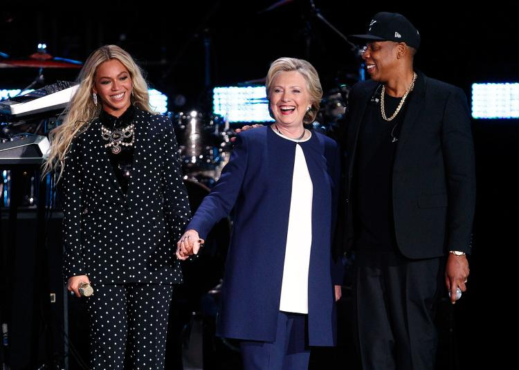 Hillary Hangs With Her Homies, Pimps, Bitches, Jay-Z and Beyonce