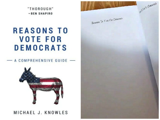 "Insightful ""Reasons To Vote For Democrats"" Tops Amazon Book Charts"