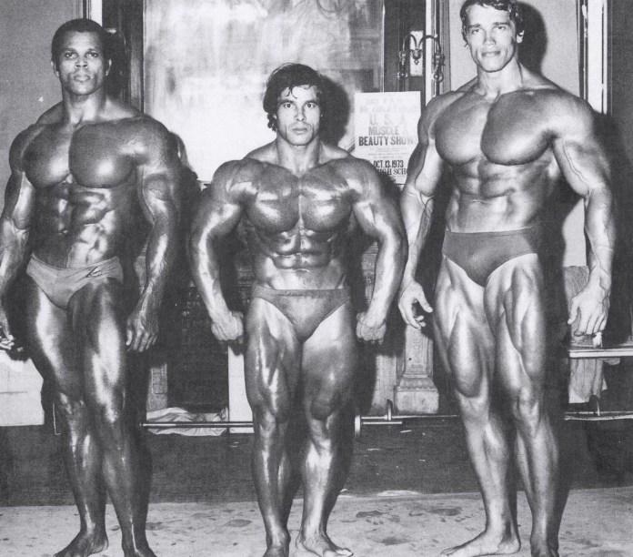 1973 Mr. Olympia Serge Nubret Franco Columbu Arnold Schwarzenegger