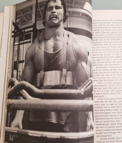 Arnold Schwarzenegger curling